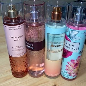 4-pack set bath and body works